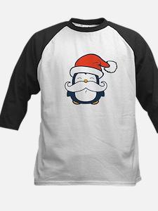 Christmas Penguin Mustache Tr Kids Baseball Jersey