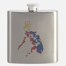 Philippine Flag and Map Decal Flask