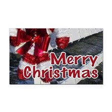 Candy Canes Decorations Rectangle Car Magnet