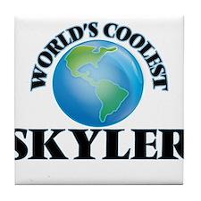 World's Coolest Skyler Tile Coaster