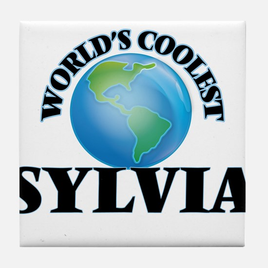 World's Coolest Sylvia Tile Coaster