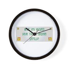 Hugged Angora Wall Clock