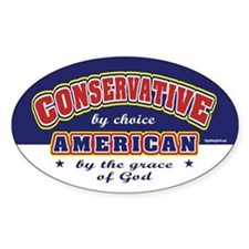 Conservative American Oval Sticker