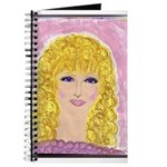 Blonde Curly Girl Journal