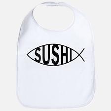 Cute Funny jesus fish Bib