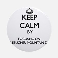 Keep calm by focusing on Entlebuc Ornament (Round)