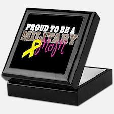 Proud to Be Military Mom Keepsake Box