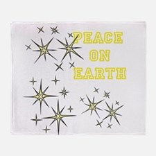 Stary Peace on Earth Throw Blanket