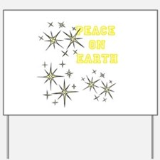 Stary Peace on Earth Yard Sign
