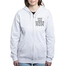 Great Dane Mom Zip Hoodie