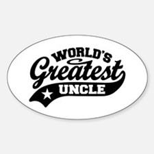 World's Greatest Uncle Sticker (Oval)