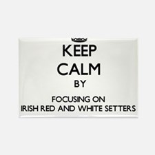Keep calm by focusing on Irish Red And Whi Magnets