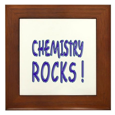 Chemistry Rocks ! Framed Tile