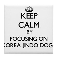 Keep calm by focusing on Korea Jindo Tile Coaster