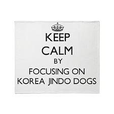 Keep calm by focusing on Korea Jindo Throw Blanket