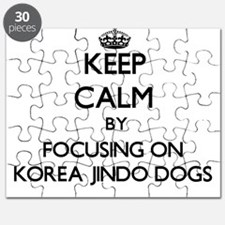 Keep calm by focusing on Korea Jindo Dogs Puzzle