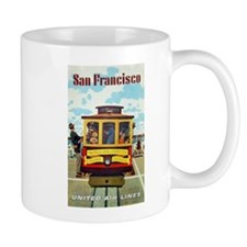 San Francisco Trolley; Vintage Poster Mugs