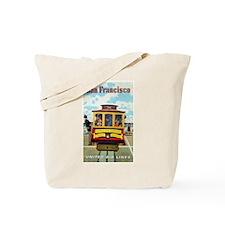 San Francisco Trolley; Vintage Poster Tote Bag