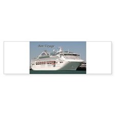 Bon Voyage: cruise ship Bumper Bumper Sticker