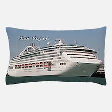 Bon Voyage: cruise ship Pillow Case