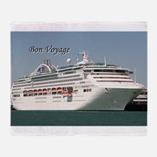 Bon Voyage: cruise ship Throw Blanket