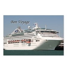 Bon Voyage: cruise ship Postcards (Package of 8)