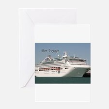 Bon Voyage: cruise ship Greeting Cards