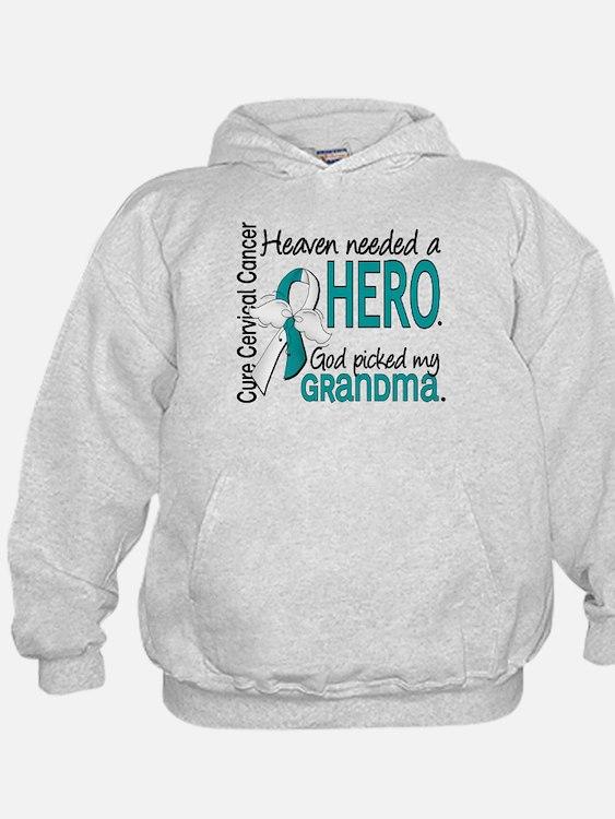 Cervical Cancer HeavenNeededHero1.1 Hoodie