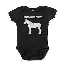 Custom Horse Silhouette Baby Bodysuit