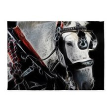 Portrait of a carriage Horse 5'x7'Area Rug