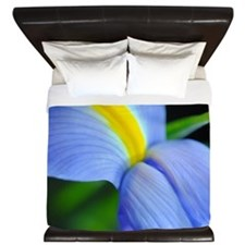Purple and Blue and Yellow Iris King Duvet
