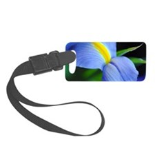 Purple and Blue and Yellow Iris Luggage Tag