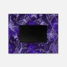 Purple Leather Look Butterflies Picture Frame