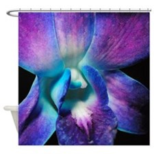 Purple Orchid Close Up Shower Curtain