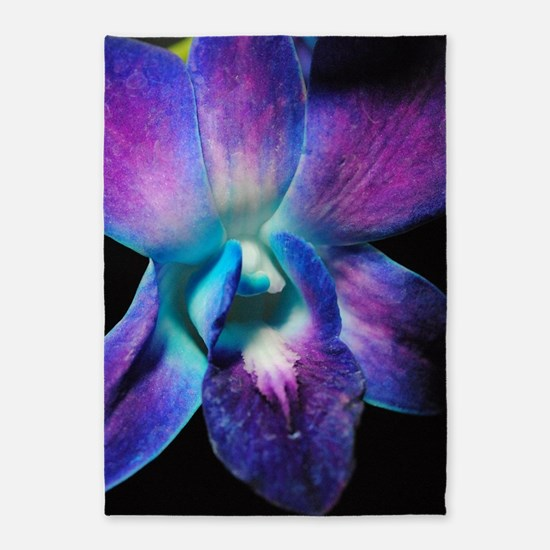 Purple Orchid Close Up 5'x7'Area Rug