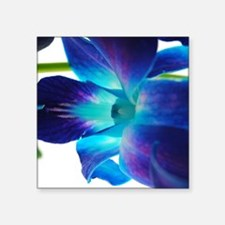 "Purple orchid close up on w Square Sticker 3"" x 3"""