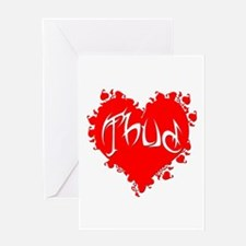 Thud Greeting Cards