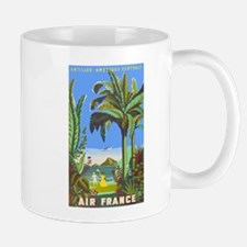 Air France Vintage Travel Poster for Antilles Mugs