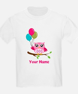 personalized add name Owl T-Shirt
