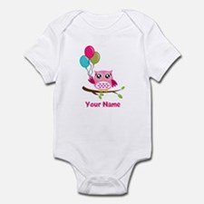 personalized add name Owl Infant Bodysuit