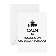 Keep calm by focusing on Old Englis Greeting Cards