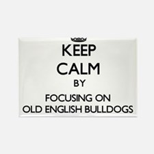 Keep calm by focusing on Old English Bulld Magnets