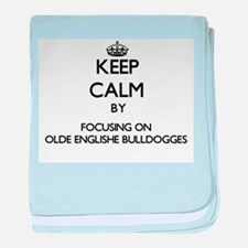 Keep calm by focusing on Olde English baby blanket
