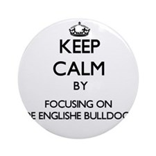 Keep calm by focusing on Olde Eng Ornament (Round)