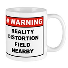 WARNING: Reality Distortion Field Mug