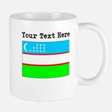 Custom Uzbekistan Flag Mugs