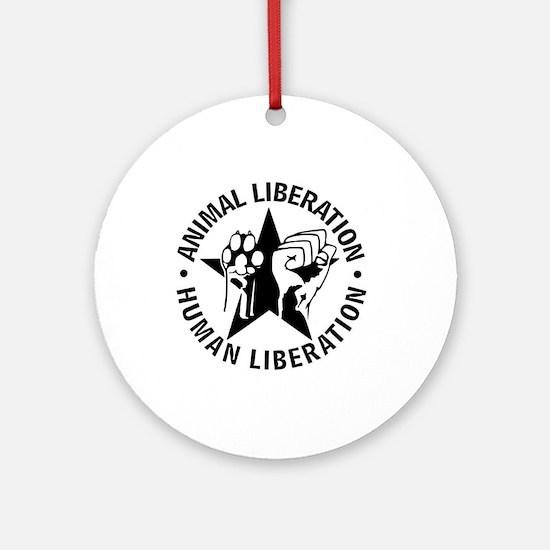 Animal Liberation Human Liberatio Ornament (Round)