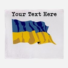 Custom Ukraine Flag Throw Blanket
