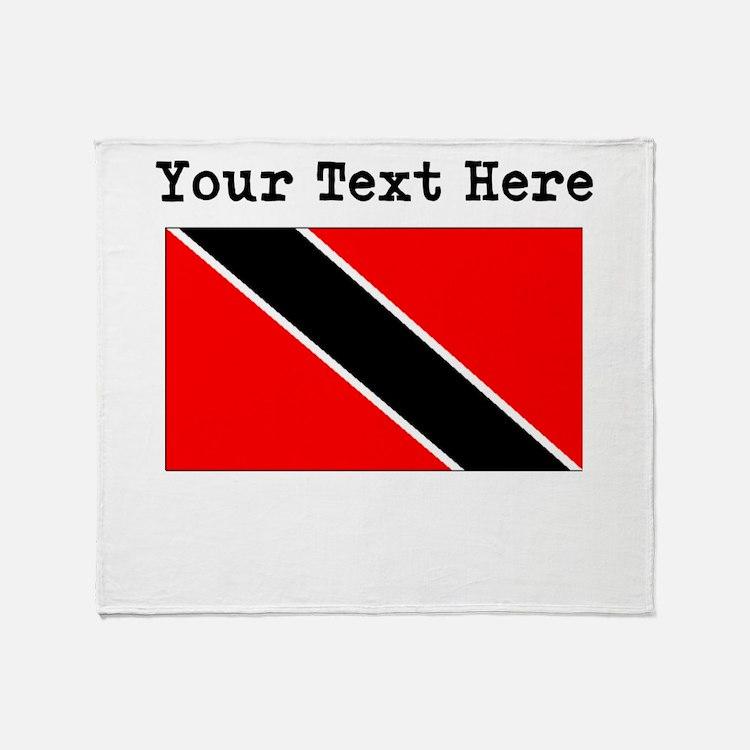 Custom Trinidad And Tobago Flag Throw Blanket