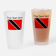 Custom Trinidad And Tobago Flag Drinking Glass